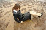 黒リクルートスーツ泥んこDM6