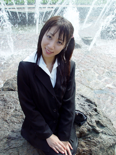 japanese wet u0026messy with suit or outfit for office  in an
