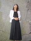 黒ロングスカート2