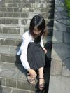 黒ロングスカート1
