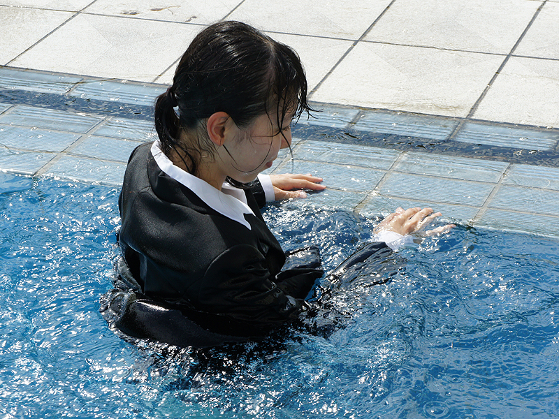 japanese wet u0026messy with suit or outfit for office  private
